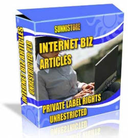 Private Label Article Pack : Internet Biz Articles
