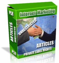 Private Label Article Pack : Internet Marketing Articles